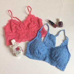 (S) aerie Bundle of Lace Bralettes